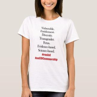 Camiseta Resista la censura de la CDC