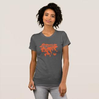 Camiseta RESISTA - mariposas - el naranja sólido