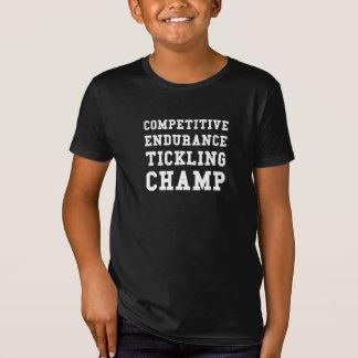 Camiseta Resistencia competitiva que cosquillea al campeón