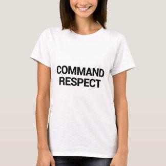 Camiseta Respecto del comando