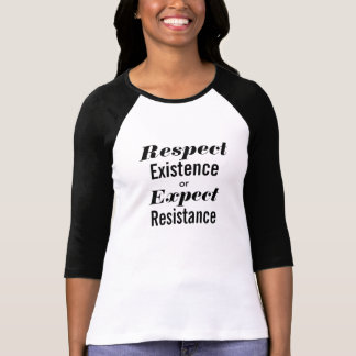 Camiseta Respete la existencia o cuente con el béisbol de