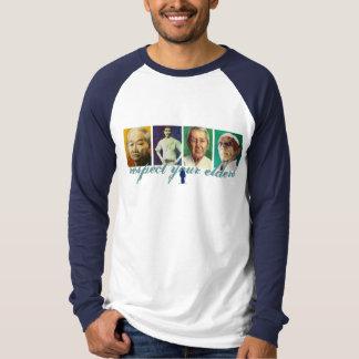 Camiseta Respete sus ancianos (la manga larga del color)