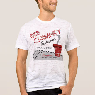 Camiseta Restaurante rojo San Francisco de la chimenea
