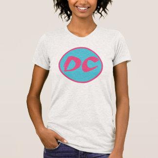 Camiseta retra de DC de las mujeres
