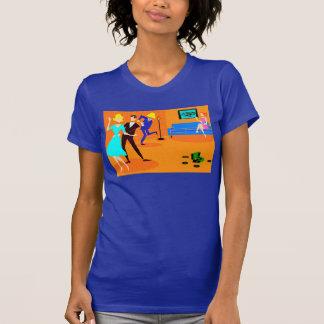 Camiseta retra del cóctel del dibujo animado