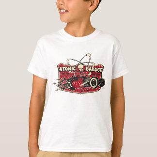 Camiseta retra del cráneo del garaje atómico de la