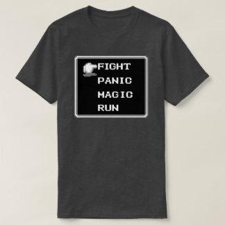 Camiseta retra del menú del RPG (de 8 bits)