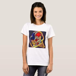 Camiseta Retrato de Shakespeare - arte moderno
