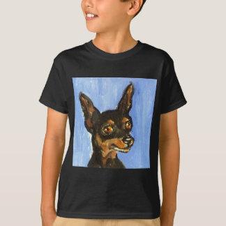 Camiseta Retrato de un pinscher miniatura