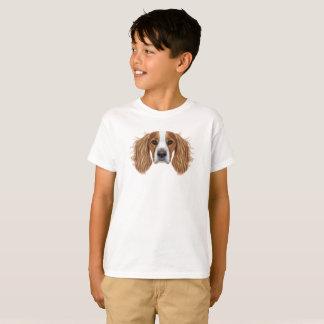 Camiseta Retrato ilustrado del perro de aguas de saltador
