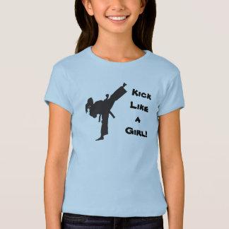 Camiseta Retroceso como una cola de caballo del Taekwondo