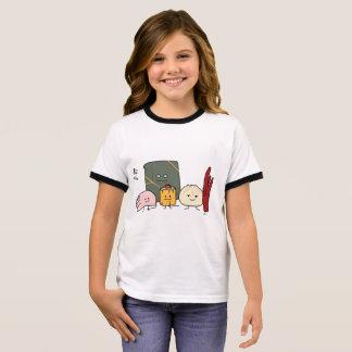 Camiseta Ringer Bollo chino de los bollos de la bola de masa