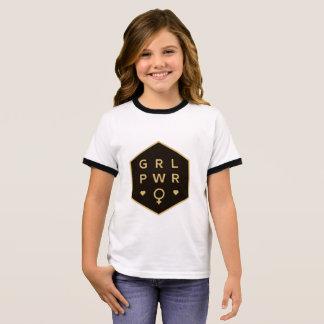 Camiseta Ringer Diseño gráfico colorido negro del poder el | del