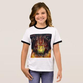 Camiseta Ringer Flyball Flamz: ¡Fricción que compite con para los