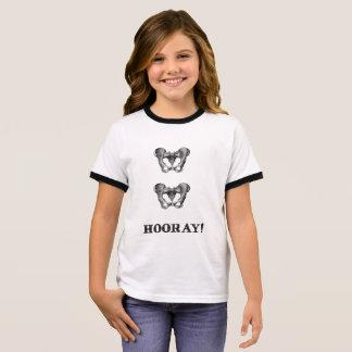 Camiseta Ringer Mensaje de la anatomía de la cadera de la cadera
