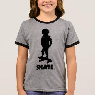 Camiseta Ringer Venta patinadora de la ropa del diseñador de los