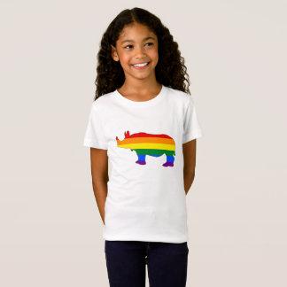 Camiseta Rinoceronte del arco iris