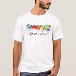 Camiseta Rio de Janeiro skyline in watercolor
