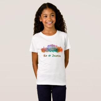 Camiseta Rio de Janeiro V2 skyline in watercolor