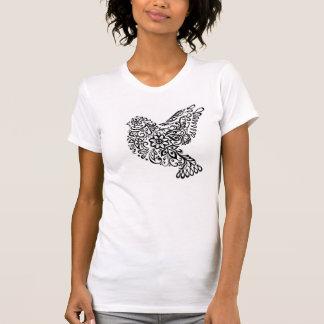 Camiseta rizada del pájaro