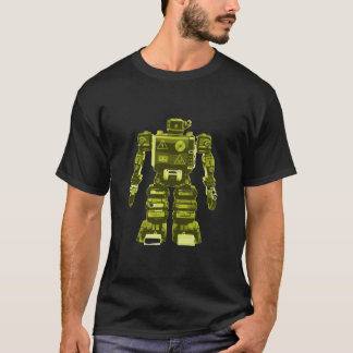 Camiseta Robot amarillo en el negro - moda del friki de la