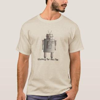 Camiseta Robot corporativo del vintage retro que trabaja