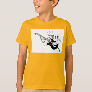 Camiseta robot del rock-and-roll