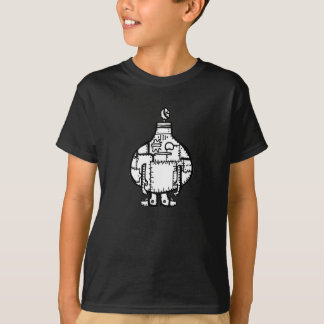 Camiseta Robot formado cebolla dibujado mano