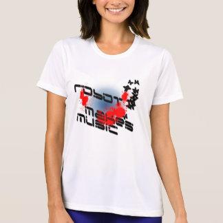 Camiseta robot-hacer-música-salpicadura