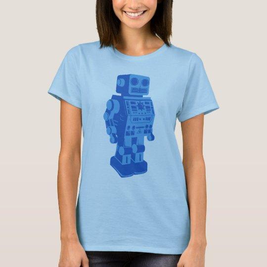 Camiseta Robot retro azul