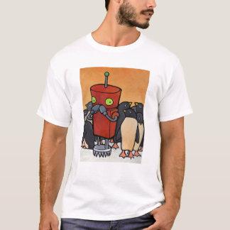Camiseta Robot y pingüinos