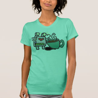 Camiseta Robots y café