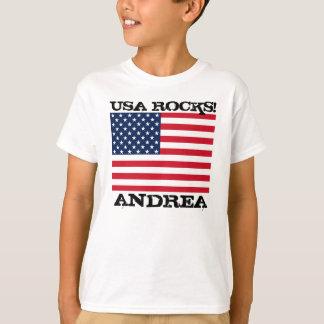 Camiseta Rocas de la bandera de los E.E.U.U.
