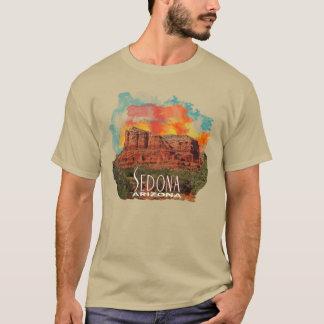 Camiseta Rocas rojas de Arizona con puesta del sol de la