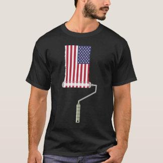 Camiseta Rodillo de pintura de la bandera de los E.E.U.U.