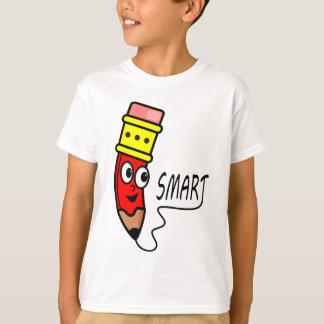 Camiseta roja caprichosa del dibujo animado del