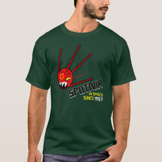 camiseta roja clásica de la oscuridad de Sputnik