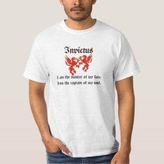 Camiseta roja de Invictus del dragón