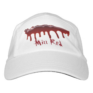 Camiseta roja de la llamarada de las mujeres gorra de alto rendimiento