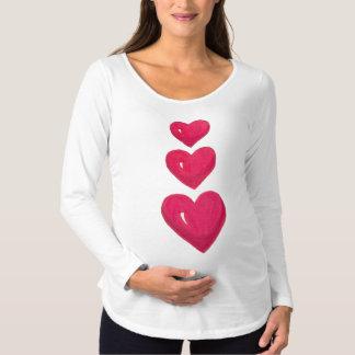 Camiseta roja de la maternidad del día de fiesta