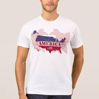 Camiseta roja de los Estados Unidos de América