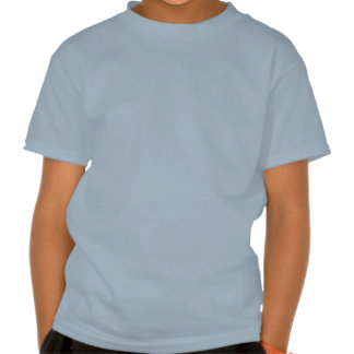 Camiseta roja de los niños de la aguamarina del