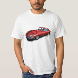 Camiseta roja del coche de deportes del vintage de