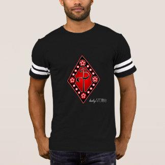 camiseta roja del fútbol del negro del diamante