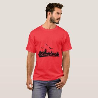 Camiseta roja del puente de Estambul Bosphorus