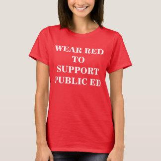 Camiseta ROJO para el PÚBLICO ED