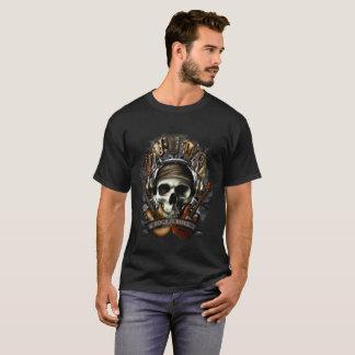 Camiseta Rollo de la roca N, cráneo de la guitarra,