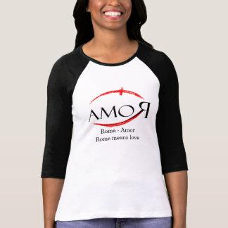Camiseta Roma - Amor Roma significa amor
