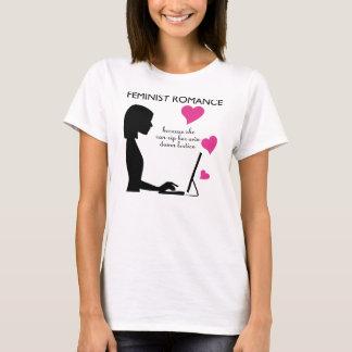 Camiseta Romance feminista: ella puede rasgar su propia