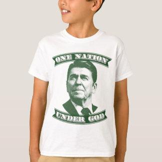 Camiseta Ronald Reagan una nación debajo de dios